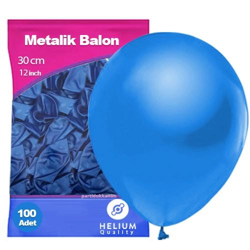 Mavi Balon Sedefli 100 Adet