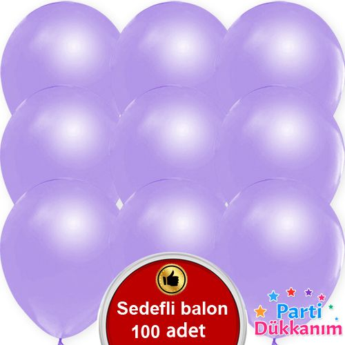 Lila Balon Sedefli 100 Adet