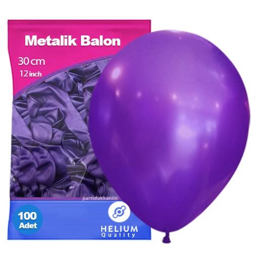 Mor Balon Sedefli 100 Adet