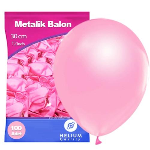 Pembe Balon Sedefli 100 Adet