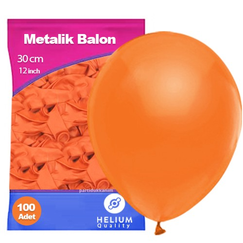 Turuncu Balon Sedefli 100 Adet