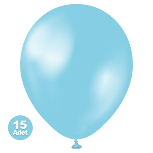 Açık Mavi Balon Sedefli 20 Adet