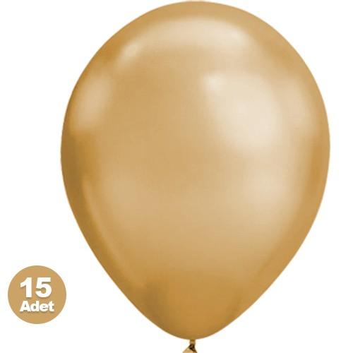 Gold Balon Metalik 15 Adet, fiyatı