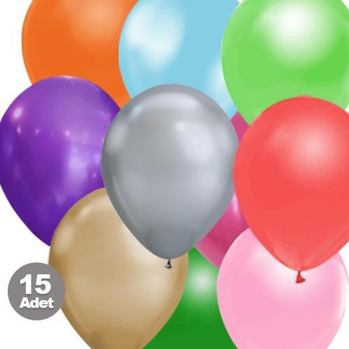 Karışık Balon Sedefli 15 Adet