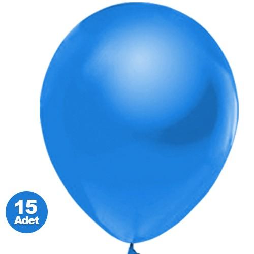 Mavi Balon Sedefli 15 Adet