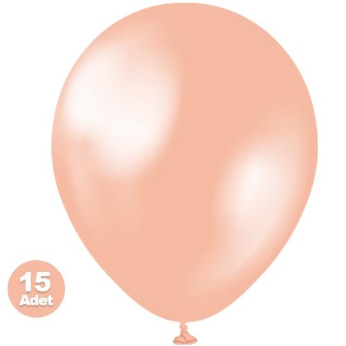 Rose Gold Balon Sedefli 15 Adet