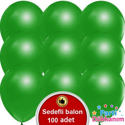 Yeşil Balon Metalik 100 Adet, fiyatı