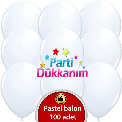 Beyaz Balon 100 Adet