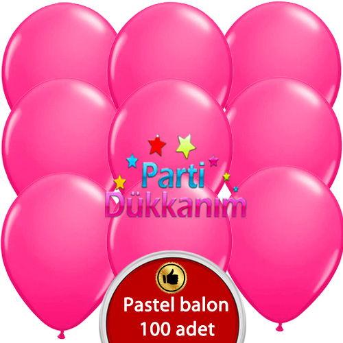 Fuşya Balon 100 Adet, fiyatı