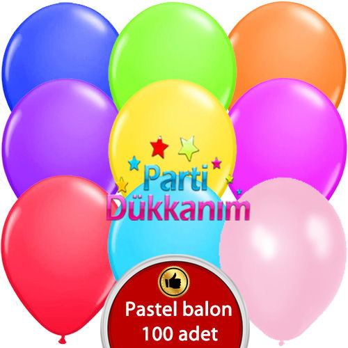 Karışık Renkli Balon 100 Adet