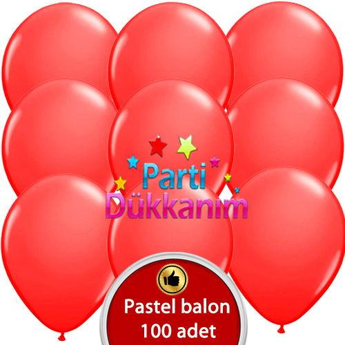 Kırmızı Balon 100 Adet