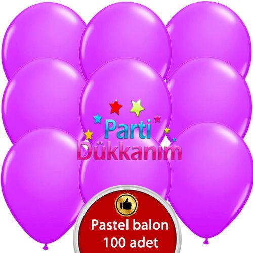 Lila Balon 100 Adet, fiyatı