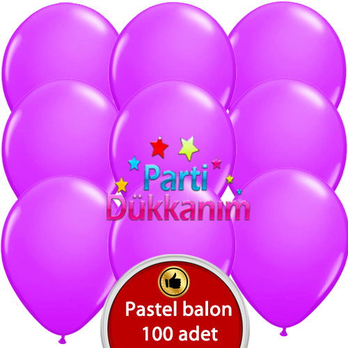 Lila Balon 100 Adet
