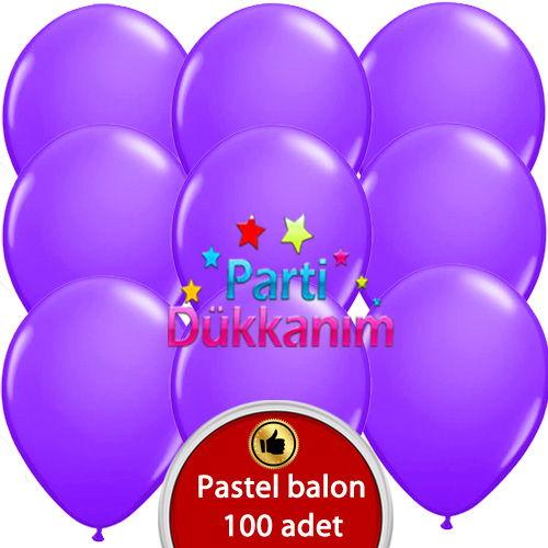 Mor Balon 100 Adet