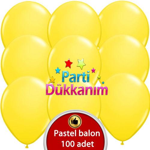 Sarı Balon 100 Adet