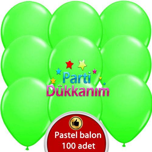 Yeşil Balon 100 Adet