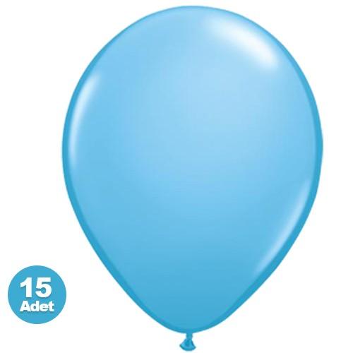 Açık Mavi Balon 15 Adet