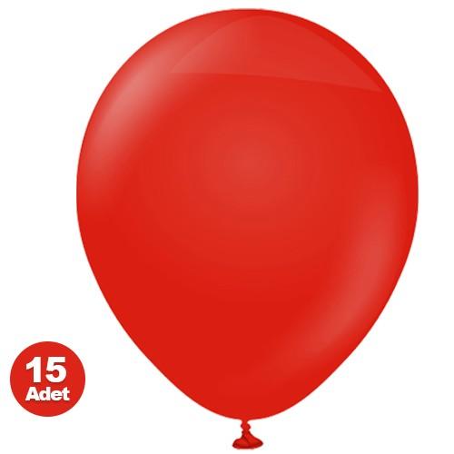 Kırmızı Balon 15 Adet