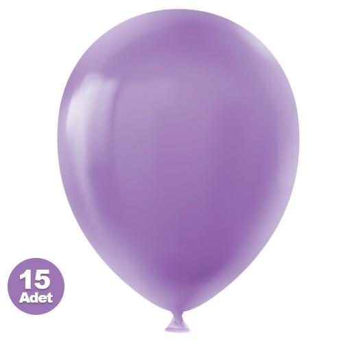 Lila Balon 15 Adet