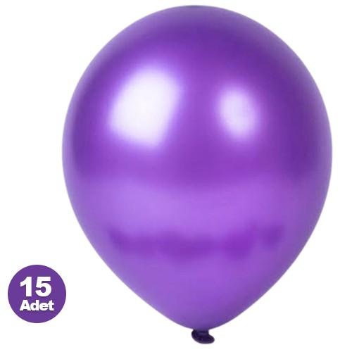 Mor Balon 15 Adet