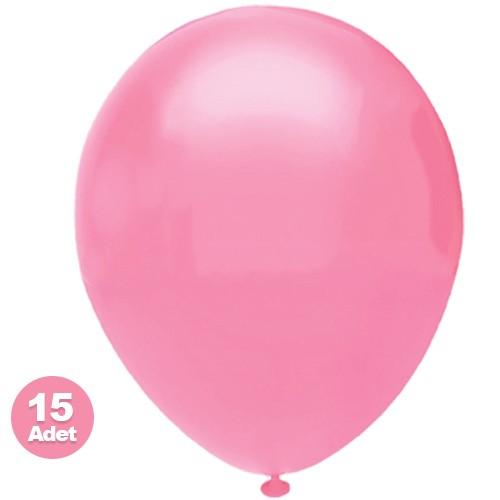 Pembe Balon 15 Adet