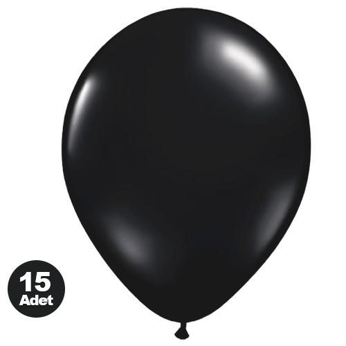 Siyah Balon (15 Adet)