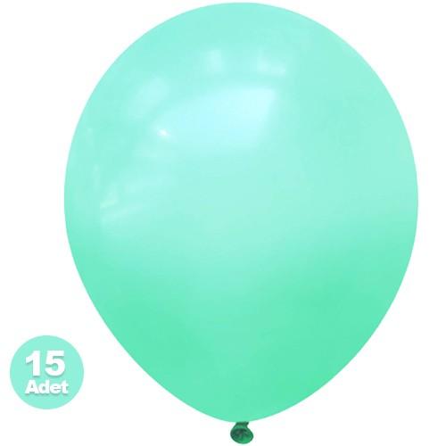 Su Yeşili Balon 15 Adet