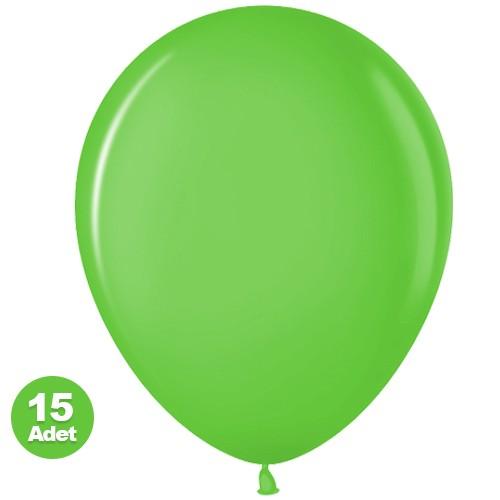 Yeşil Balon 15 Adet