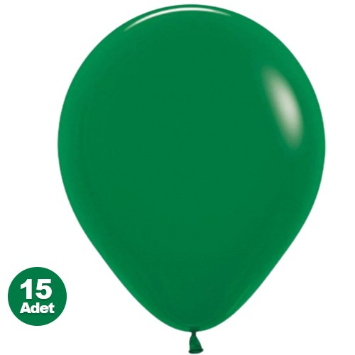 Koyu Yeşil Balon 15 Adet, fiyatı