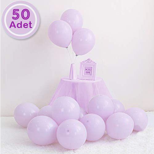 Makaron Balon Lila 50 Adet, fiyatı
