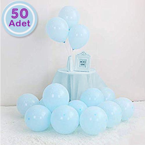 Makaron Balon Mavi 50 Adet, fiyatı