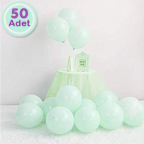 Makaron Balon Mint Yeşili 50 Adet, fiyatı
