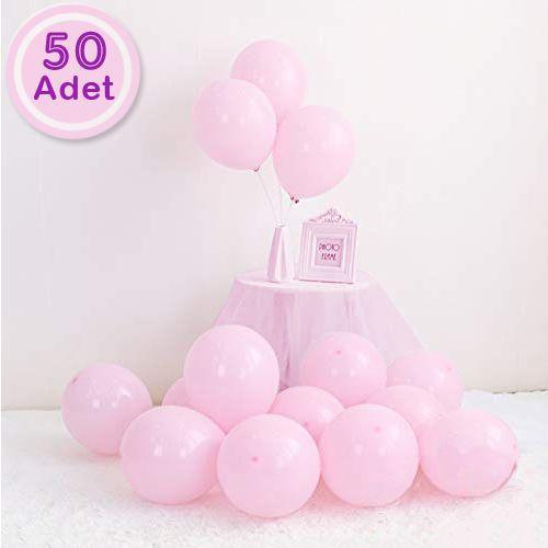 Makaron Balon Pembe 50 Adet, fiyatı