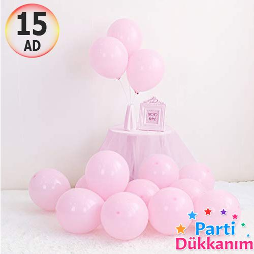 Makaron Balon Pembe 15 Adet, fiyatı