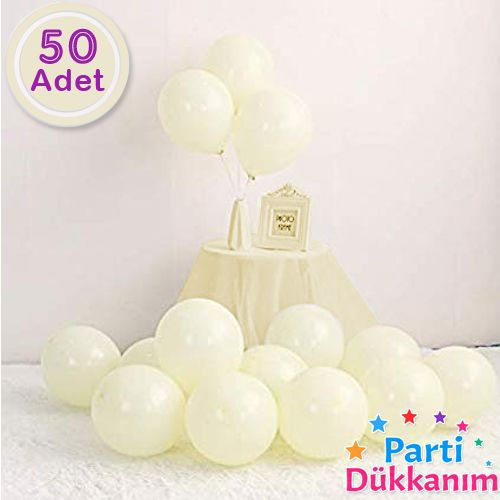 Makaron Balon Sarı 50 Adet, fiyatı