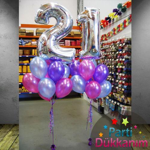 21 Yaş Uçan Balon Demeti MAĞAZADAN