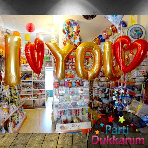 I Love You-Kalpli Folyo Balon MAĞAZADAN