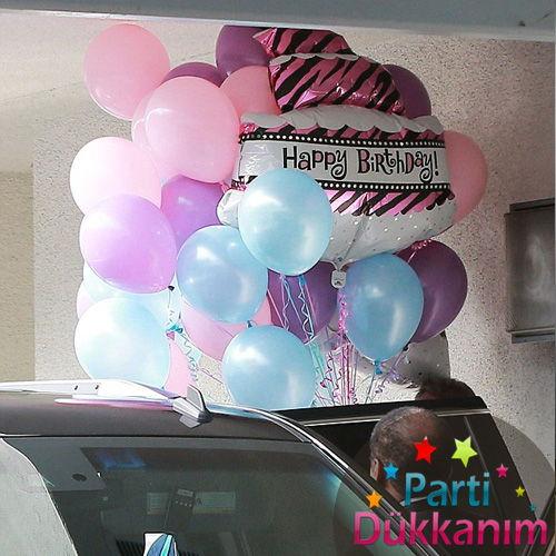 Açık Mavi-Mor-Pembe Uçan Balon Demeti (40 adet) MAĞAZADAN