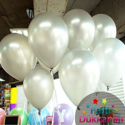 Gümüş Sedefli Uçan Balon 15 Adet MAĞAZADAN