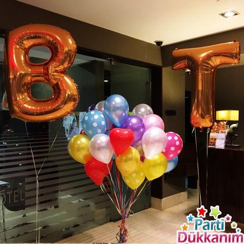 Harf Folyo Balon ve Uçan Balon Demeti MAĞAZADAN