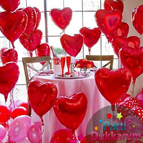 20 Adet Kalpli Folyo Uçan Balon (Balon Hediyeli) MAĞAZADAN