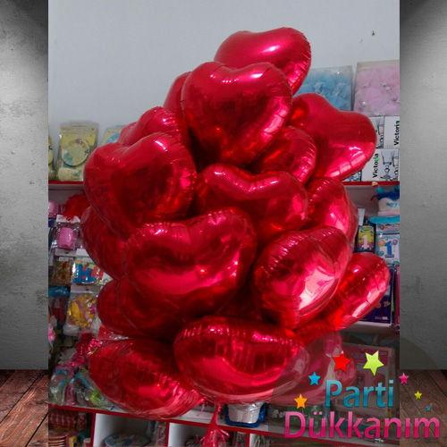 Kalpli Folyo Uçan Balon Demeti 20 Adet MAĞAZADAN