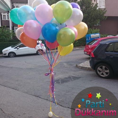 Karışık Sedefli Uçan Balon 20 Adet MAĞAZADAN