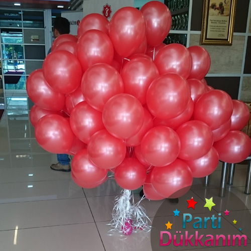 Kırmızı Sedefli Uçan Balon 100 Adet MAĞAZADAN