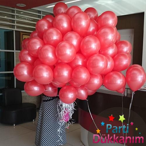 Kırmızı Sedefli Uçan Balon 100 Adet MAĞAZADAN, fiyatı