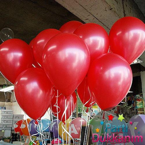 Kırmızı Uçan Balon Demeti 15 Adet MAĞAZADAN