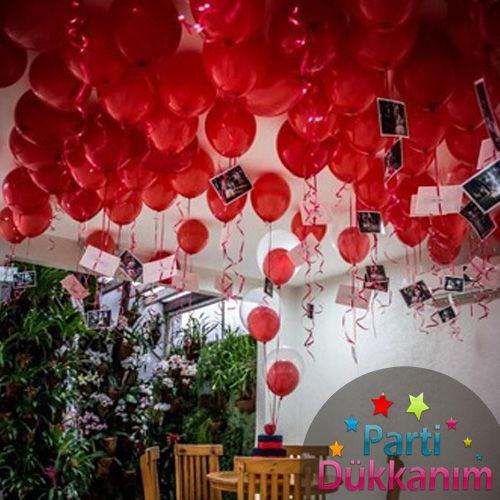 Kırmızı Uçan Balon Demeti 100 Adet MAĞAZADAN