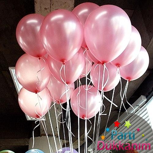 Pembe Sedefli Uçan Balon 15 Adet MAĞAZADAN