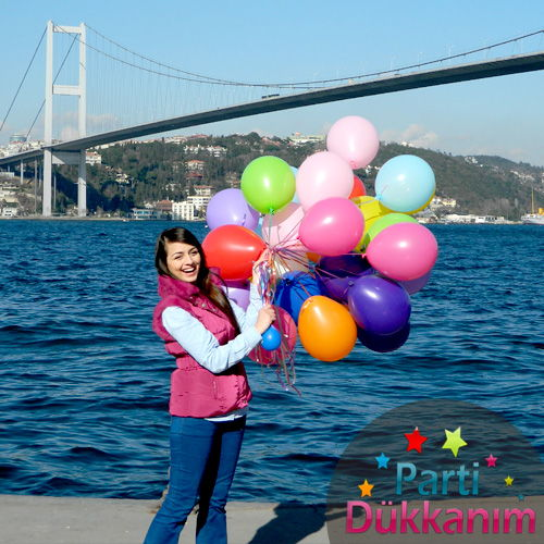 Sevgiliye Uçan Balon Sürprizi 33 Adet MAĞAZADAN