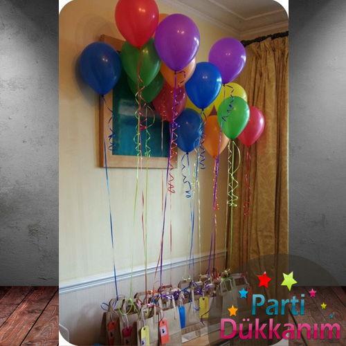 Karışık Renkli Uçan Balon 15 Adet MAĞAZADAN